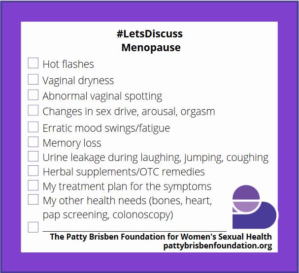 #LetsDiscuss Menopause
